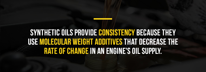 provides consistency for oil changes