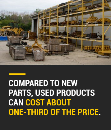 used products cost one-third the price of new parts