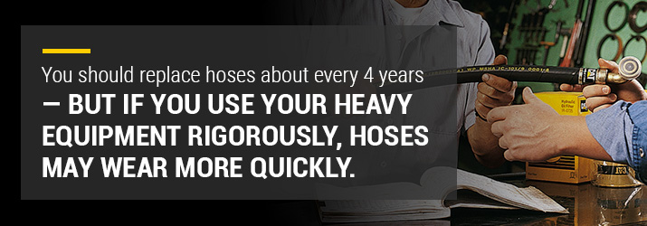 replace hoses every four years