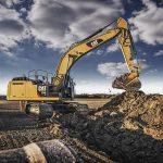 large track excavator