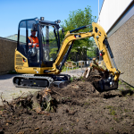 cat mini excavator landscaping