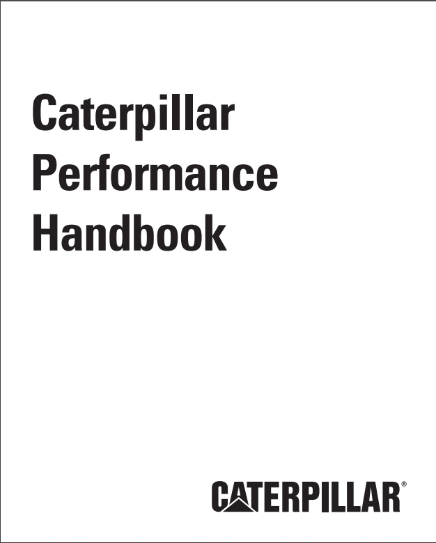 Caterpillar Performance Handbook Pdf