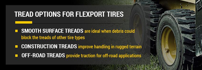 cat tire tread options