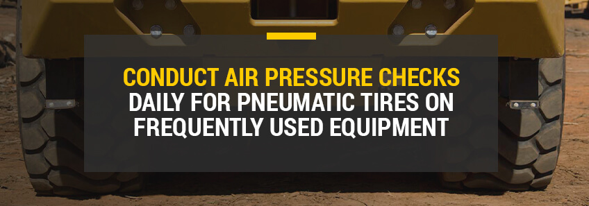 check air pressure daily