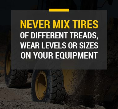 never mix tires